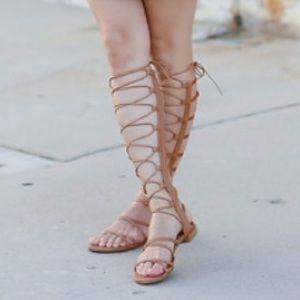 Stuart Weitzman Sparta lace up gladiator sandal